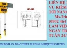 Kiểm định tời nâng – KIỂM ĐỊNH TỜI NÂNG | Pa lăng cáp điện: nguyên lý hoạt động