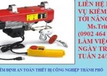 Kiểm định tời nâng – | KIỂM ĐỊNH TỜI NÂNG | Nguyên tắc an toàn cùng tời cáp điện cao cấp