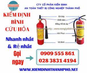 Hình ảnh kiểm định bình cứu hỏa