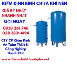 hình ảnh kiểm định bình chứa khí nén