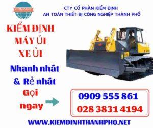 Hình ảnh kiểm định máy ủi xe ủi